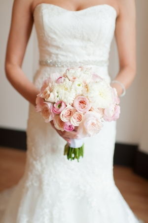 Ivory and Pink Bouquet