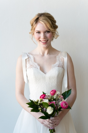 Lace Overlay Bridal Gown
