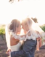 Lace Trimmed Bridal Veil