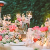Lush Pink and Green Centerpiece