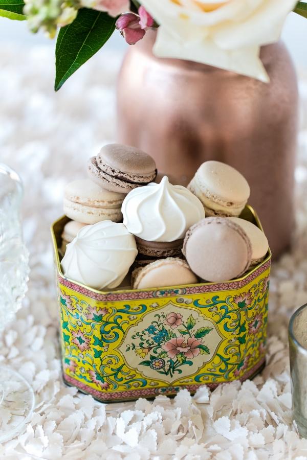 Macarons in Vintage Tea Tin