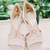 Matte Silver Glitter Bridal Heels