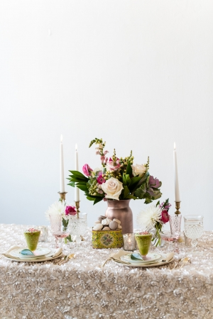 Mauve Wedding Linens