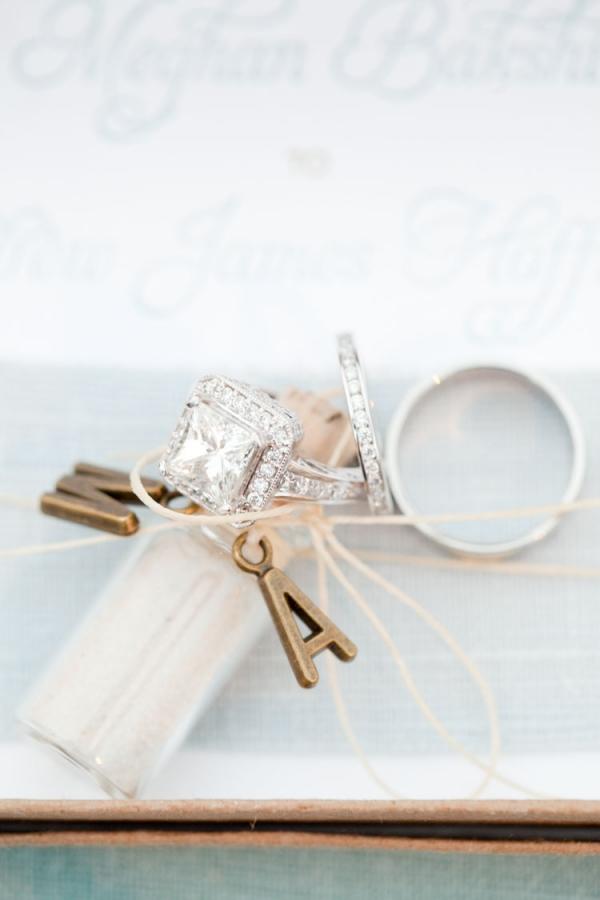 Monogram Wedding Ring Photo