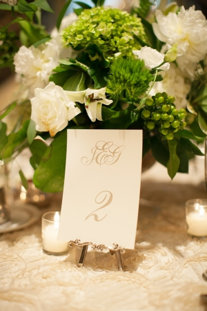Monogrammed Reception Table Numbers