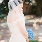 Off Shoulder Embroidered Bridal Gown