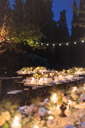 Outdoor Reception in Tuscany