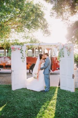 Outdoor Wedding with Doors