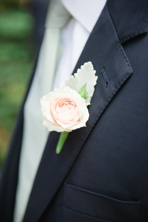 Pale Rose Boutonniere