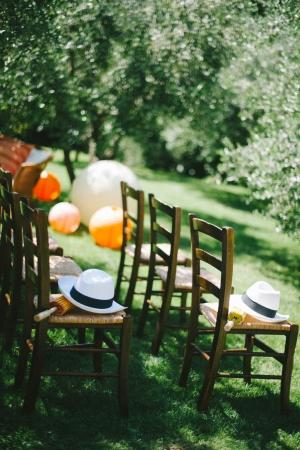 Paper Lantern Decor Outdoor Wedding