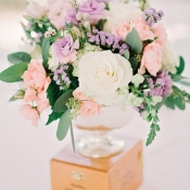Pastel Florals in Silver Vase