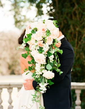 Peach Rose and Greenery Bouquet