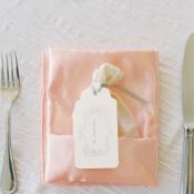 Peach Wedding Napkin