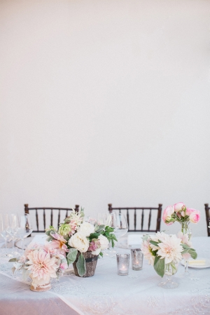 Peach and Ivory Centerpiece