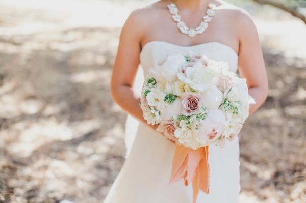 Peony and Rose Bridal Bouquet