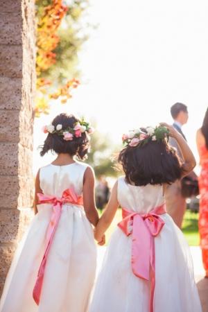 Pink Hair Wreaths for Flower Girls