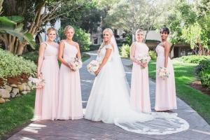 Pink One Shoulder Bridesmaids