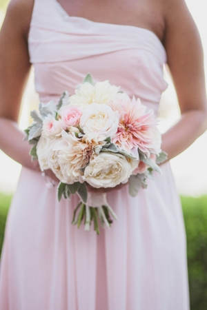 Pink One Shoulder Bridesmaids Dress