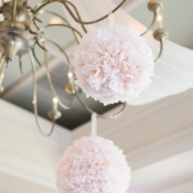 Pink Silk Flower Pomanders