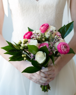 Pink and Cream Bridal Bouquet