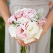 Pink and Cream Bridesmaid Bouquet