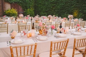 Pink and Gold Winery Wedding