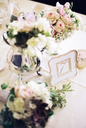 Pretty Gold Framed Table Number