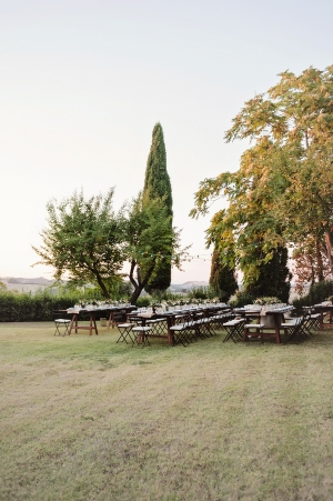 Reception on the Lawn in Tuscany