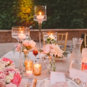 Romantic Candle and Floral Decor Reception Ideas