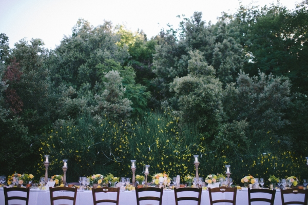 Romantic Italian Villa Reception