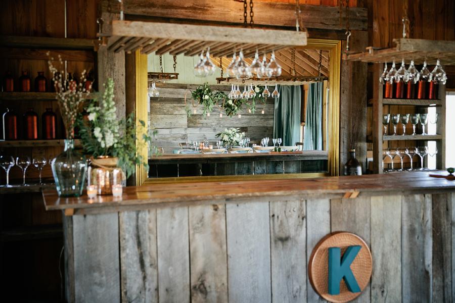 rustic barn bar wedding venue inspiration