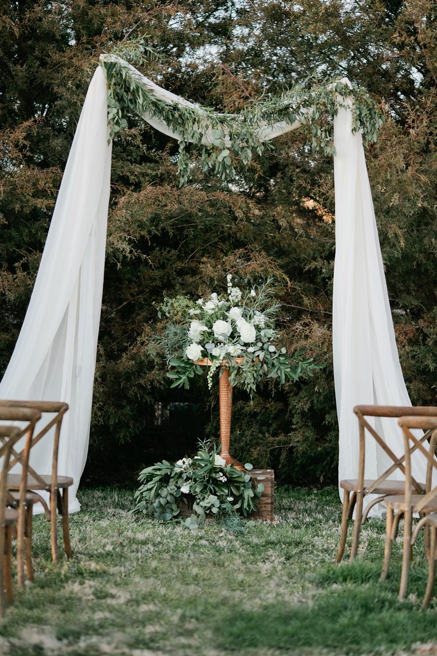 Rustic Outdoor Wedding Ceremony Venue - Elizabeth Anne ...