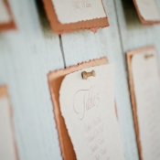Rustic Paper Seating Chart