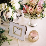 Scalloped Gold Framed Table Number