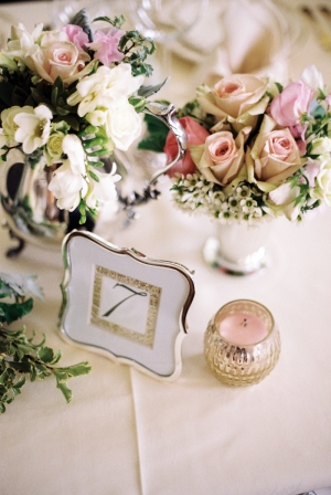 Scalloped Gold Framed Table Number