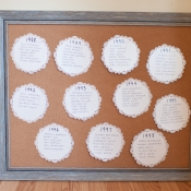 Seating Chart on Scalloped Paper