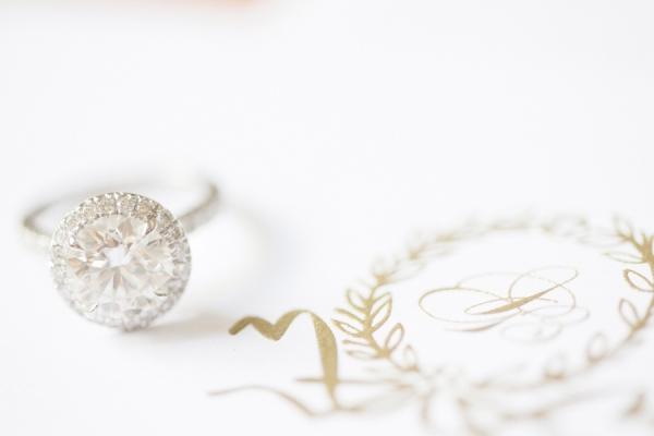 Sparkly Halo Wedding Ring