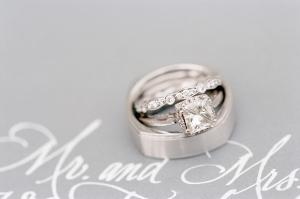 Sparkly Platinum Wedding Rings