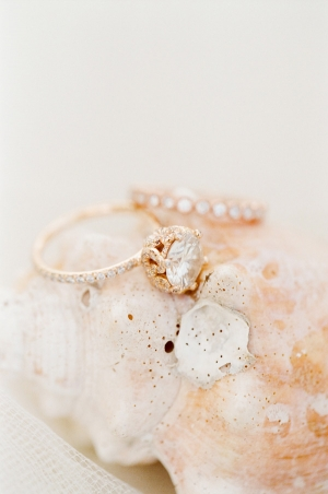 Sparkly Rose Gold Wedding Rings
