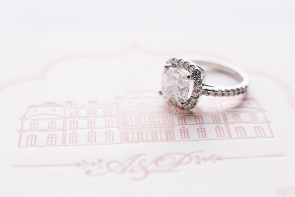 Sparkly Square Diamond Engagement Ring