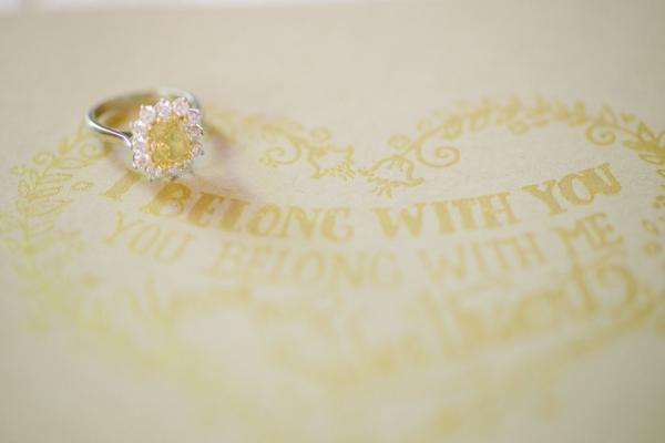 Sparkly Yellow Diamond Ring