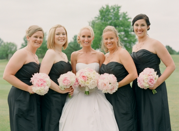 Strapless Black Bridesmaids Dresses