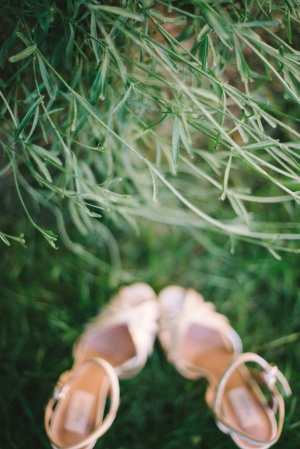 Strappy Nude Bridal Sandals