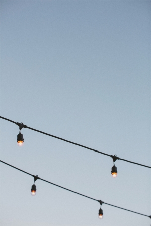 String Lights at Wedding