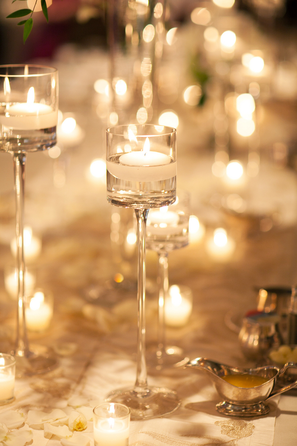 Tall Gl Candle Holder Reception Decor