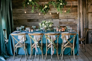 Teal Linens Rustic Wedding Inspiration