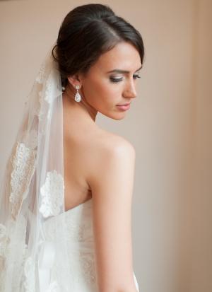 Teardrop Diamond Bridal Earrings