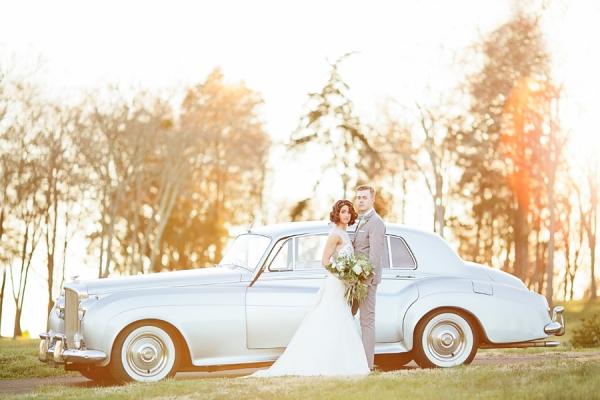 Vintage Blue Rolls Royce Getaway Car