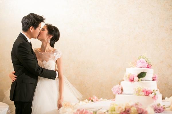 Wedding Cake With Fresh Peonies