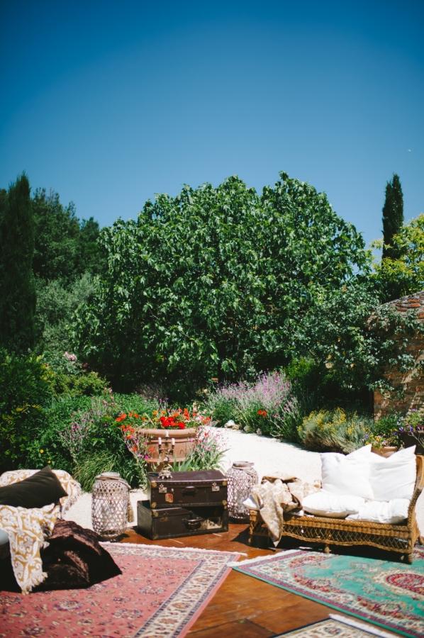 Wedding Lounge Area with Rugs